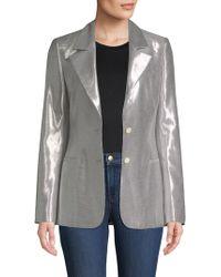 Diane von Furstenberg - Metallic Button-front Blazer - Lyst