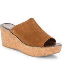 a9e31ebc8ca01 Sam Edelman - Women s Ranger Suede Wedge Slides - Brown - Size 38.5 (8.5)