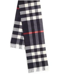Burberry - Cashmere Checked Wool Scarf - Lyst