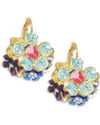 Kenneth Jay Lane - Ladybug And Floral Drop Earrings - Lyst