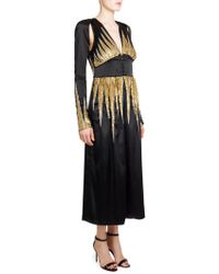 Attico - Sequined Satin Robe - Lyst