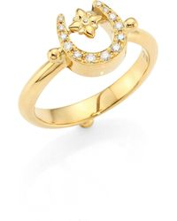 Temple St. Clair - Mini Horseshoe Diamond & 18k Yellow Gold Ring - Lyst