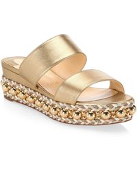 Christian Louboutin - Janitag Espadrille Wedge Sandals - Lyst