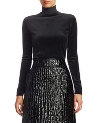Akris Punto - Velvet Turtleneck Top - Lyst
