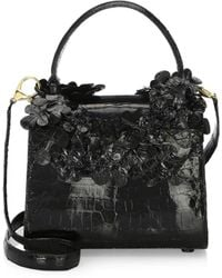 Nancy Gonzalez - Small Leaf Lily Crocodile Handbag - Lyst