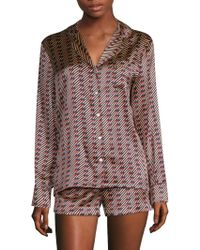 Stella McCartney - Poppy Snoozing Silk-blend Short Pajamas - Lyst
