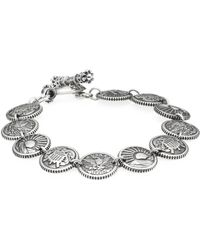King Baby Studio - American Voices Eagle, Sun, Shield Sterling Silver Concho Bracelet - Lyst