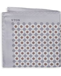 Eton of Sweden - Medallion Silk Pocket Square - Lyst