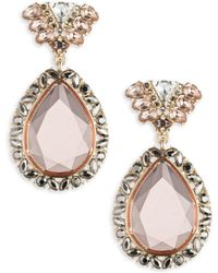 ABS By Allen Schwartz | Make Me Blush Double-drop Earrings | Lyst