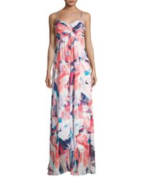 Laundry by Shelli Segal - Printed Chiffon Gown - Lyst