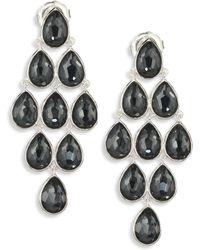 Ippolita - Rock Candy? Clear Quartz, Hematite & Sterling Silver Teardrop Cascade Earrings - Lyst