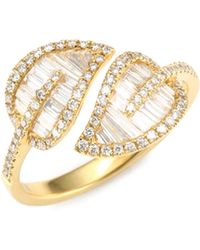 Anita Ko - Diamond Leaf Ring - Lyst