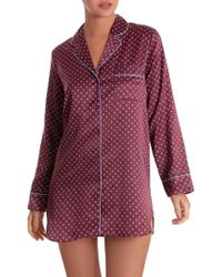 In Bloom - Around You Printed Satin Sleepshirt - Lyst