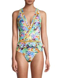 OndadeMar - Crossed Cleavage One-piece Swimsuit - Lyst