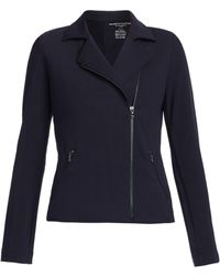 Majestic Filatures French Terry Moto Jacket - Blue