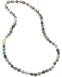 Jordan Alexander - 12mm-15mm Grey Baroque Tahitian Freshwater Pearl & Diamond Strand Necklace/36 - Lyst