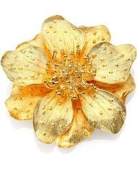 Kenneth Jay Lane - Anemone Flower Pin - Lyst