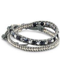 Chan Luu | Grey Banded Agate Mix Double-wrap Bracelet | Lyst
