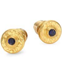 Gurhan - Classic 24k Gold Sapphire Stud Earrings - Lyst