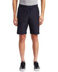 Saks Fifth Avenue - Modern Silver Stripe Stretch Shorts - Lyst