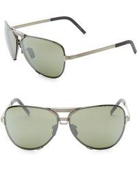 09def1bf7d3e3 Lyst - Kyme Stevie 59mm Mirrored Aviator Sunglasses in Metallic for Men