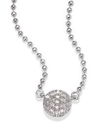 Phillips House - Micro Infinity Diamond & 14k White Gold Pendant Necklace - Lyst