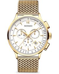 Movado - Circa Stainless Steel Chronograph Watch - Lyst