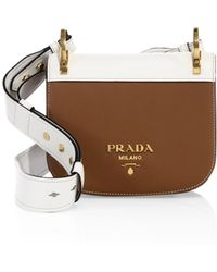 93efb533465f2b Prada Pionnière Velvet & Leather Saddle Bag in Green - Lyst