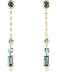 David Yurman - Novella Hamtpon Gemstone & Diamond Drop Earrings - Lyst