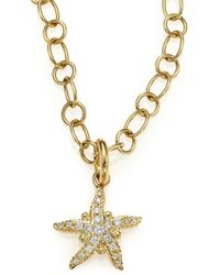 Temple St. Clair - Tree Of Life Diamond & 18k Yellow Gold Sea Star Pendant - Lyst