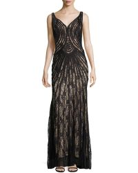 Basix Black Label - Piped Lace Gown - Lyst