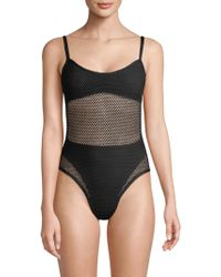 L*Space - Mesh Madness One-piece Bathing Suit - Lyst