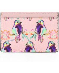 Furla - Babylon Bird Print Leather Cardholder - Lyst
