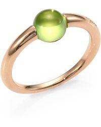 Pomellato - Peridot Cabochon & Rose Gold Ring - Lyst