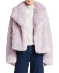 A.L.C. - Grant Faux Fur Jacket - Lyst