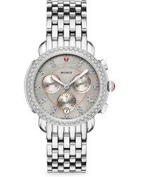 Michele Watches - Sidney Stainless-steel Diamond Dial Bracelet Watch - Lyst