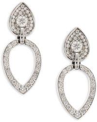 Plevé - Opus Diamond & 18k White Gold Pear Stud & Ear Jacket Set - Lyst