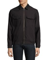 J.Lindeberg - Long Sleeve Zip-front Shirt - Lyst