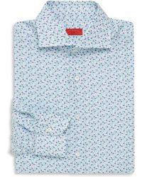 Isaia - Leaf Printed Regular-fit Dress Shirt - Lyst