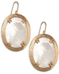 Stephanie Kantis - Mother Of Pearl Paris Oval Large Earrings - Lyst
