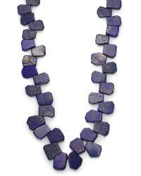 Nest - Lapis Cluster Long Necklace - Lyst