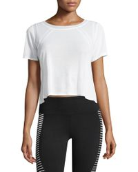 Alo Yoga - Cropped Two Tone Tee - Lyst