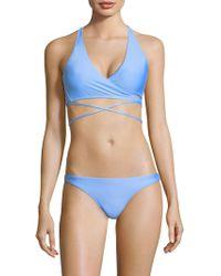 MILLY - Maglificio Bikini Top - Lyst
