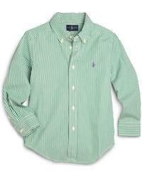 Ralph Lauren - Little Boy's Striped Poplin Dress Shirt - Lyst