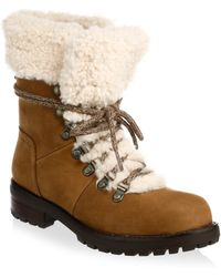 UGG - Fraser Shearling & Suede Combat Booties - Lyst