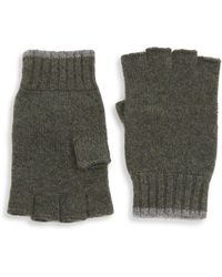 Saks Fifth Avenue - Collection Tipping Fingerless Cashmere Gloves - Lyst