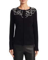 Saks Fifth Avenue - Cashmere Pearl Embellished Cardigan - Lyst
