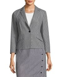 BOSS - Striped Stretch Denim Jacket - Lyst