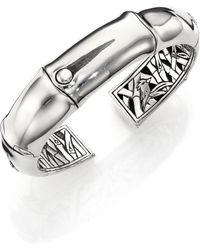 John Hardy - Bamboo Sterling Silver Kick Cuff Bracelet - Lyst
