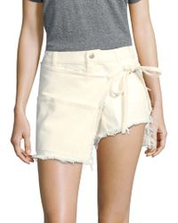 Sandy Liang - Perry Denim Skort - Lyst